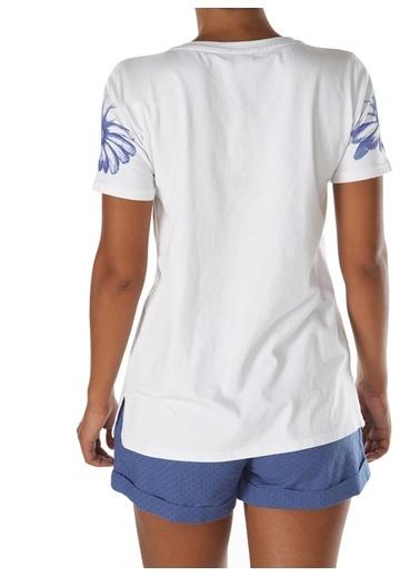 Doremi Deap Blue Şortlu Takım Beyaz